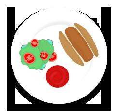 veg hotdog